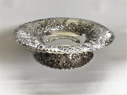 A Gorgeous Victorian Pierced Silver Dish (1 of 7)