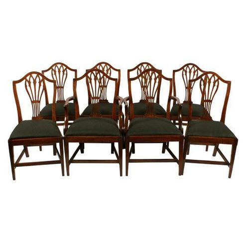Set of Eight Hepplewhite Chairs (1 of 9)
