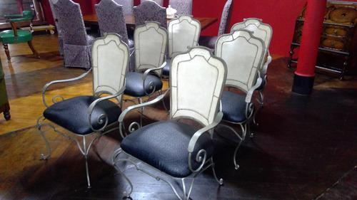Italian Verande Iron Armchairs (1 of 6)