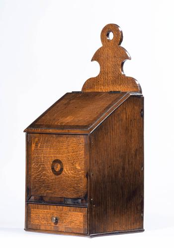 George III Period Oak & Mahogany Salt Box (1 of 4)