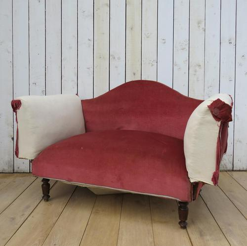 Antique French Sofa Chaise Longue (1 of 9)