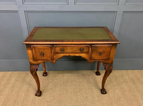 Queen Anne Style Burr Walnut Writing Table (1 of 12)