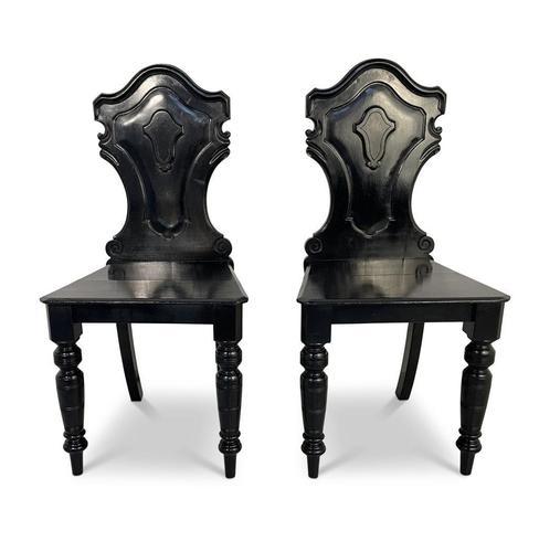 Ebonised Hall Chairs (1 of 4)
