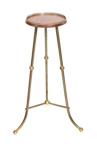 Victorian Brass & Mahogany Lamp Table (1 of 6)
