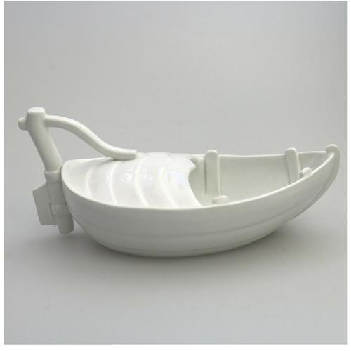 Marine Interest: An Extremely Rare Minton Novelty Porcelain Gravy Boat C.19thc (1 of 8)