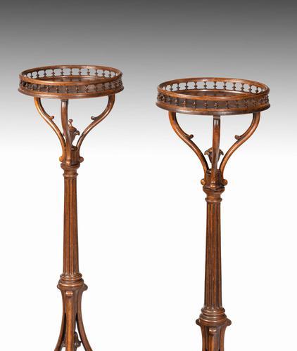 Elegant & Unusual Pair of 19th Century Torchieres (1 of 4)