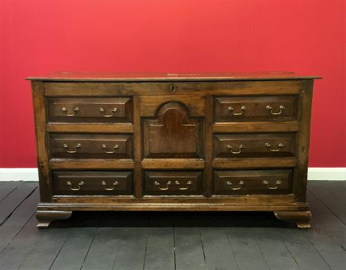 Beautiful 18th Century Georgian Period English Country Oak Mule Chest Sideboard Cabinet (1 of 19)