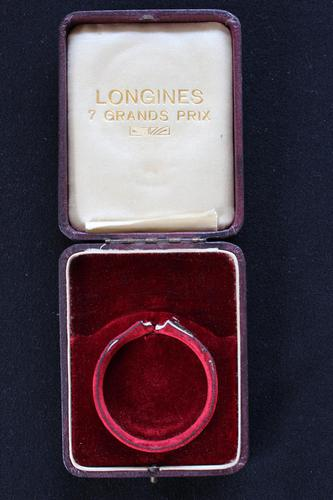 Early 20th Century Swiss Longines Leather Pocket Watch Box (1 of 5)