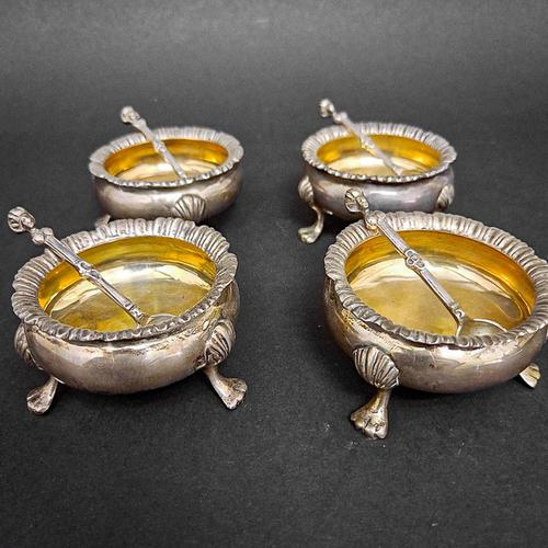 Set of Four Victorian Silver Salts (1 of 5)
