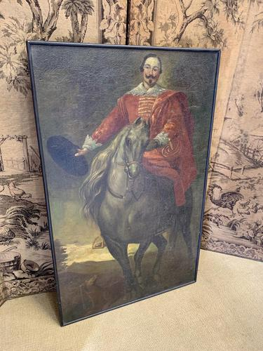 French 18th Century Portrait of a Knight on Horseback (1 of 6)