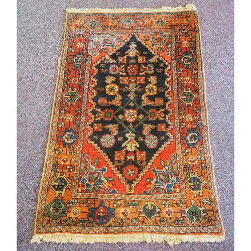 Small Vintage Persian Hamadan Rug (1 of 5)