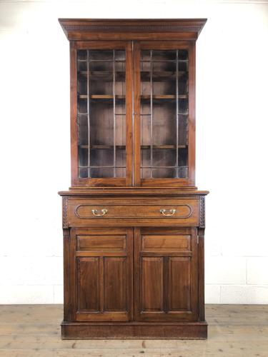 Antique 19th Century Two Stage Mahogany Bookcase (1 of 19)