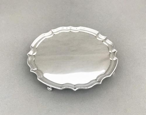 Handsome Silver Card Tray / Waiter (1 of 5)