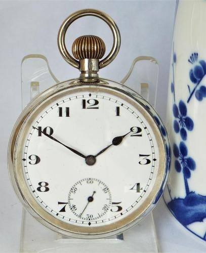 Antique Swiss Silver Pocket Watch, 1924 (1 of 5)