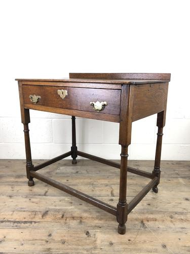 Antique 19th Century Oak Lowboy Side Table (1 of 11)