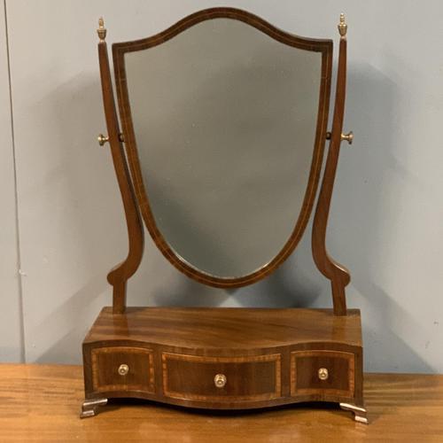 English Regency Serpentine Dressing Table Mirror (1 of 5)