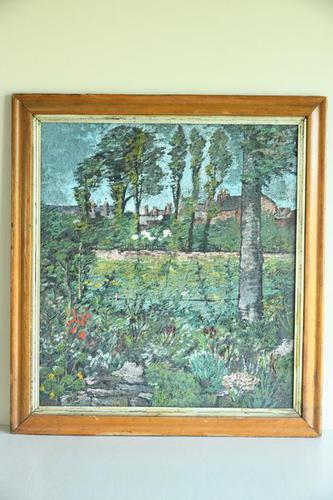 Early 20th Century British School A Town Garden Oil on Board (1 of 9)