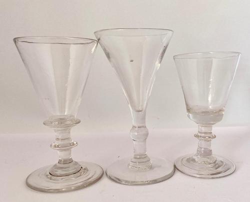 Trio of Georgian Glasses c.1790 (1 of 6)