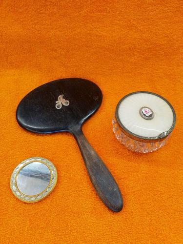 """Vintage Mirrors 1 with Silver """"A"""" & Vanity Pot (1 of 11)"""