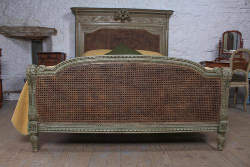 Magnificent French Caned Kings Size Marriage Bed (1 of 13)