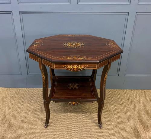 Inlaid Rosewood Table by James Shoolbred (1 of 11)
