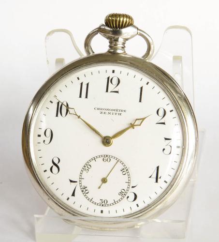 Antique Silver Zenith Pocket Watch (1 of 5)