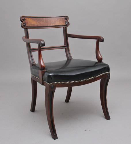 Early 19th Century Mahogany & Ebonised Armchair (1 of 10)