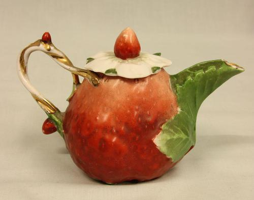 Antique Strawberry Small Teapot (1 of 6)