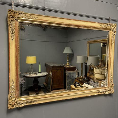 Very Large French Paint & Gilt Mirror (1 of 9)