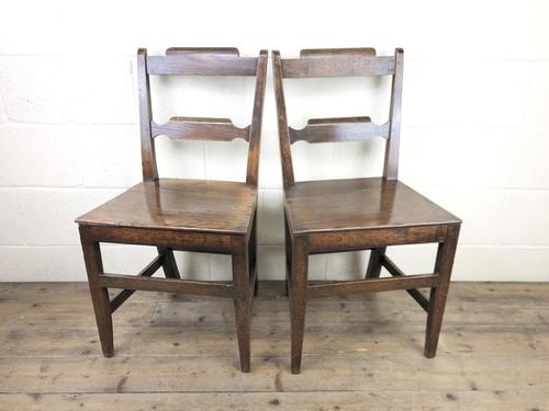 Pair of Welsh Oak Bar Back Farmhouse Chairs (1 of 15)