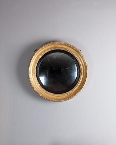 Late Regency Gilt Convex Mirror (1 of 3)