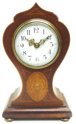 Super Art Nouveau Mantle Clock Tulip Floral Inlay 8 Day Mantle Clock (1 of 15)