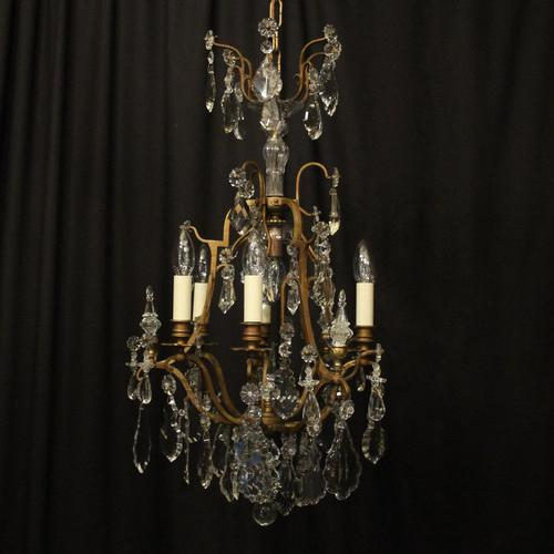 French Gilded 7 Light Antique Chandelier (1 of 10)