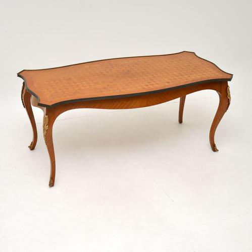 French Inlaid Parquetry Coffee Table c.1930 (1 of 8)