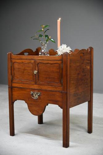 Georgian Mahogany Bedside Table Commode (1 of 12)