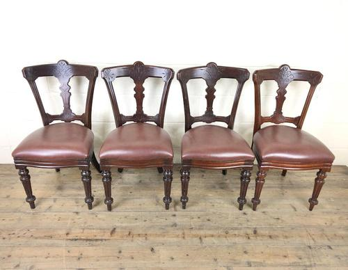 Set of Four Victorian Mahogany Dining Chairs (1 of 7)