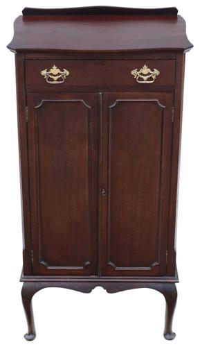 Edwardian Mahogany Music Cabinet Cupboard c.1910 (1 of 9)