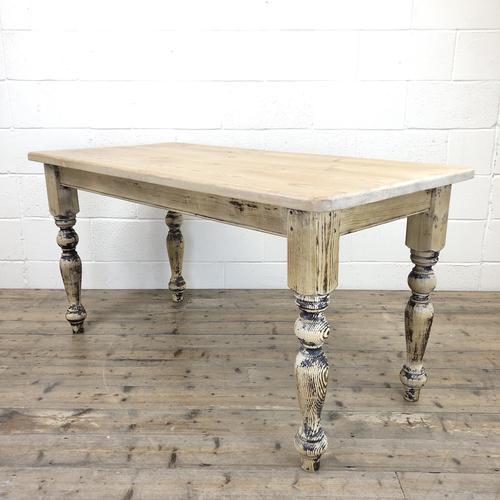 Vintage Pine Farmhouse Kitchen Table (1 of 9)