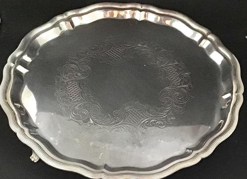 Georgian Silver Plate Salver (1 of 4)
