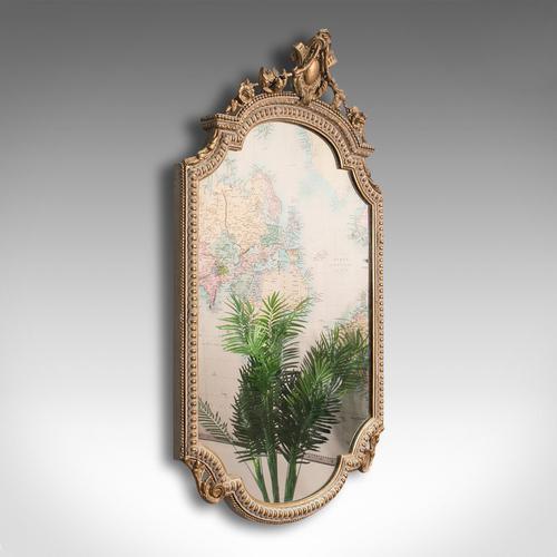 Antique Gesso Wall Mirror, Italian, Giltwood, Glass, Shield, Victorian c.1900 (1 of 10)