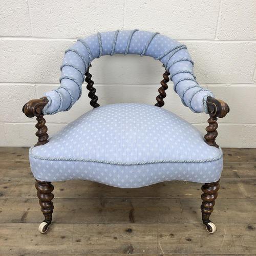 Victorian Mahogany Barley Twist Chair (1 of 10)