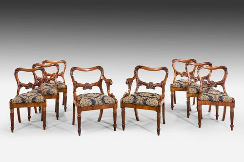 Set of Eight Regency Period Dining Chairs (1 of 5)