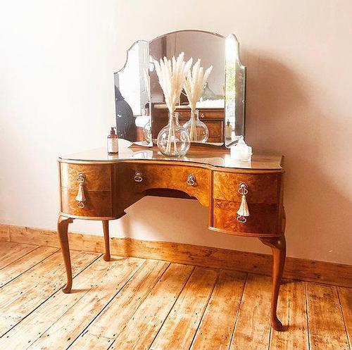 Burr Walnut Dressing Table / Vanity / Sideboard (1 of 6)