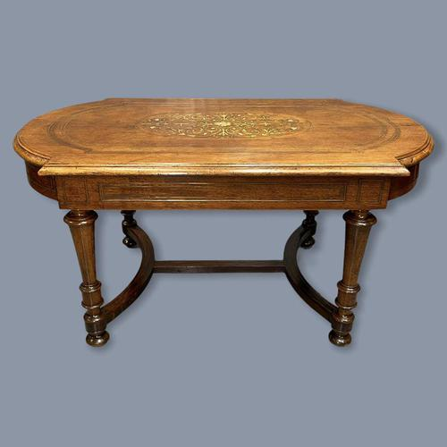 French Walnut and Marquetry Coffee Table (1 of 5)
