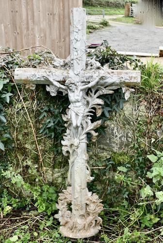 Large Architectural French Cast Iron Cross (1 of 5)
