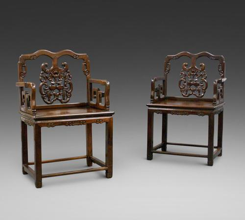 Pair of Chinese Qing Dynasty, Hongmu Chairs (1 of 6)