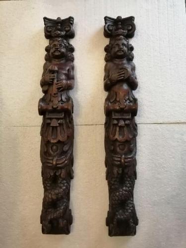 Pair of Late 17th Century Oak Caryatids (1 of 9)