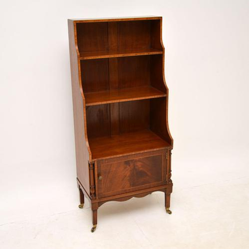 Antique Inlaid Mahogany Cascading Open Bookcase (1 of 9)