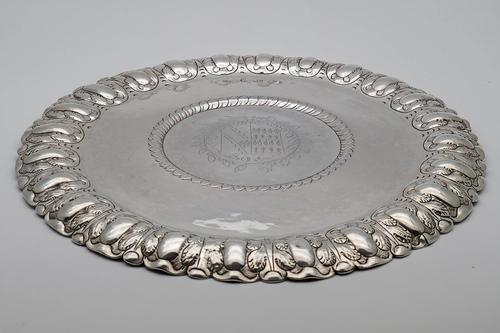 Extremely Rare Commonwealth Sterling Silver Porringer Stand or Salver, London 1656 (1 of 5)