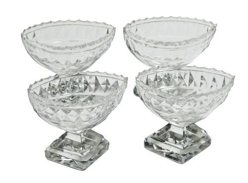 A Set of Pretty Cut Glass Salts (1 of 4)